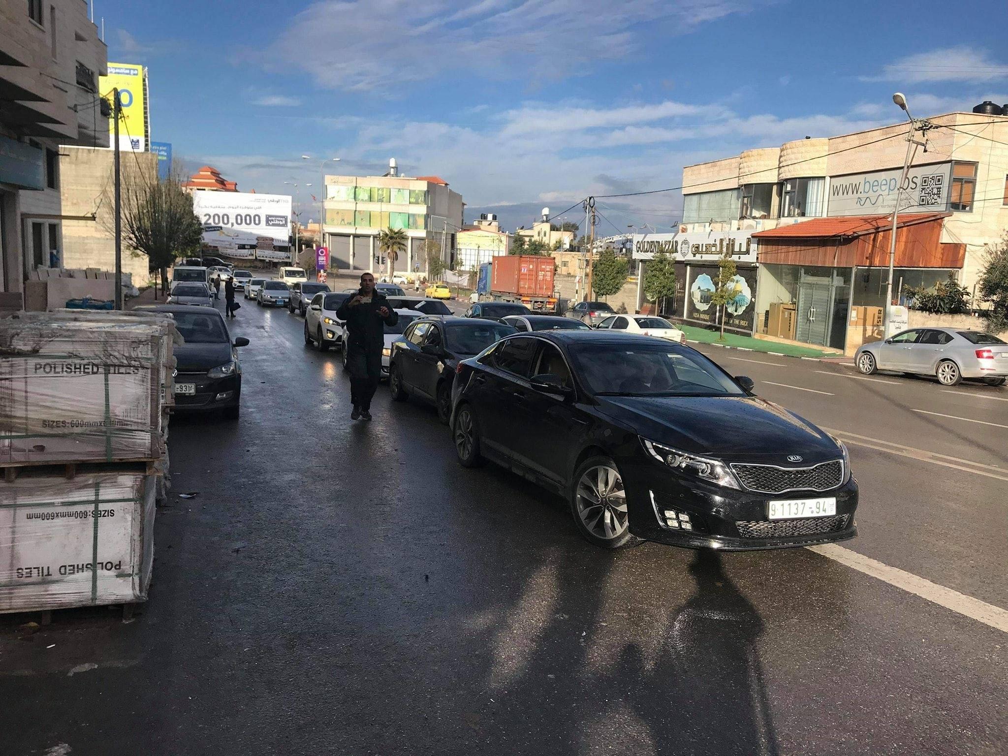 اعتصام لمستوردي المركبات أمام مقر وزارة المالية برام الله