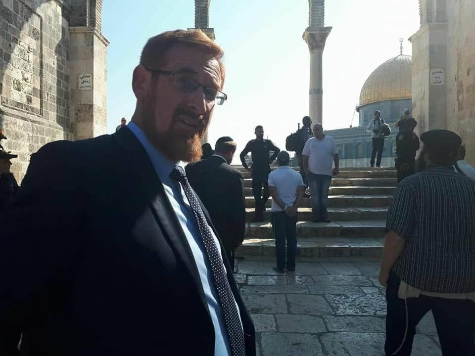 المتطرف غليك يزوج ابنه داخل المسجد الأقصى المبارك