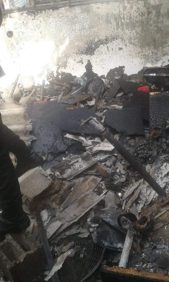 وفاة اطفال في حريق منزل بغزة