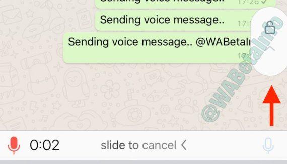 الرسائل الصوتية عبر واتساب