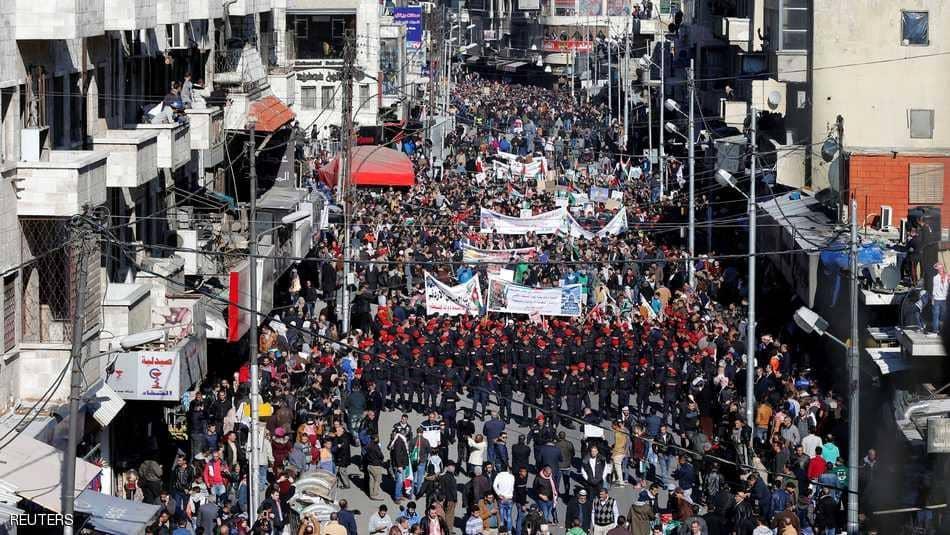 مظاهرات في الاردن ضد الاعتراف بالقدس عاصمة لاسرائيل
