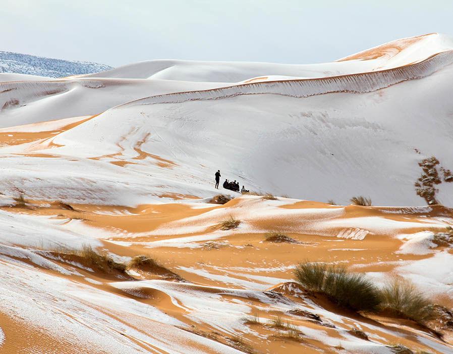 الثلوج في صحراء الجزائر