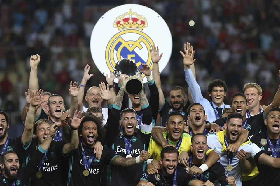 ريال مدريد يتوج ببطولة كأس السوبر الاوروبية بفوزه على مانشستر يونايتد