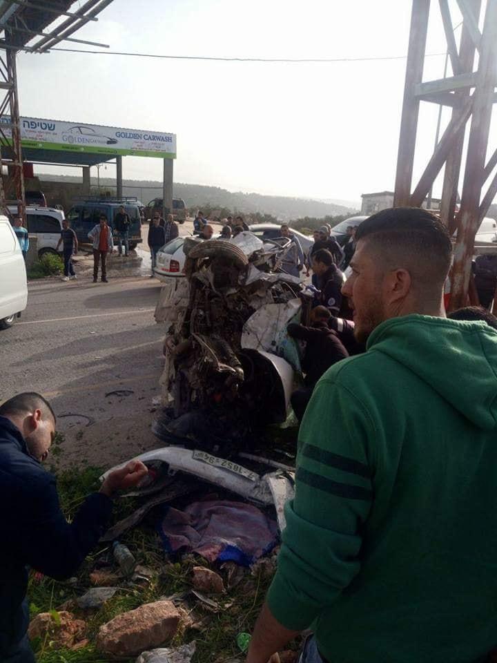 مصرع مواطنين من نابلس في حادث سير مروع بسلفيت