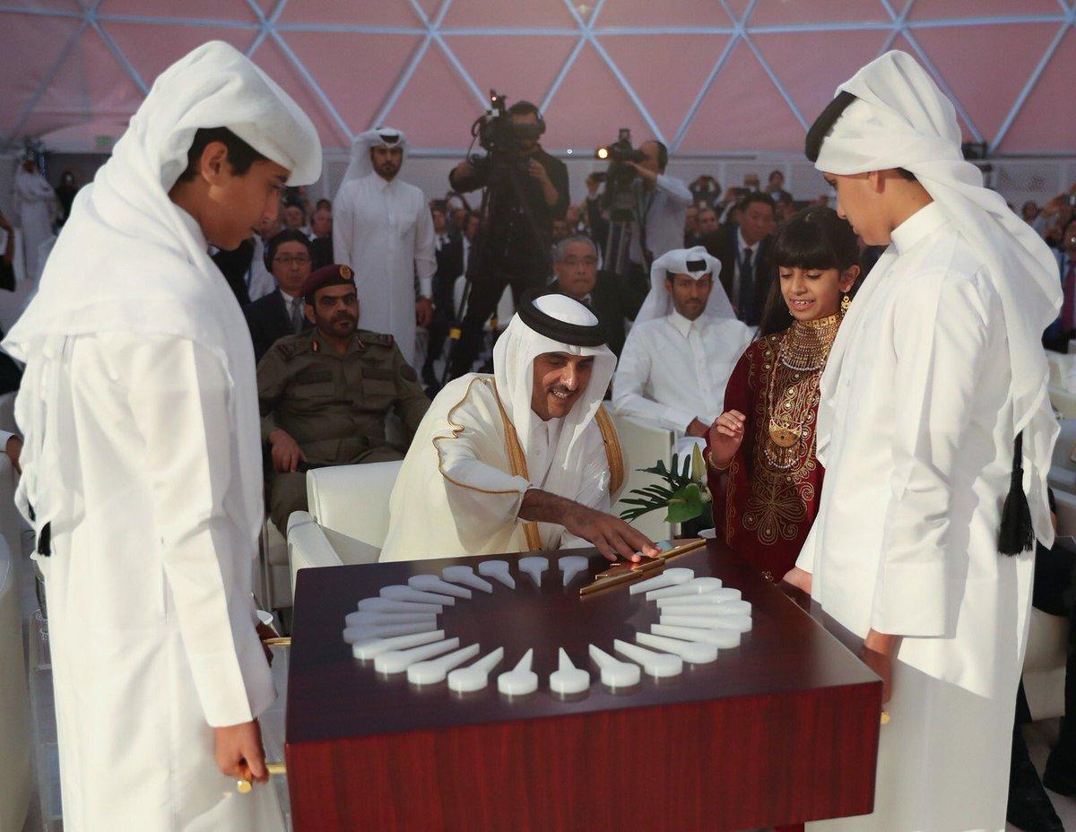 أمير قطر يفتتح أحد أهم المشاريع على مستوى الشرق الأوسط