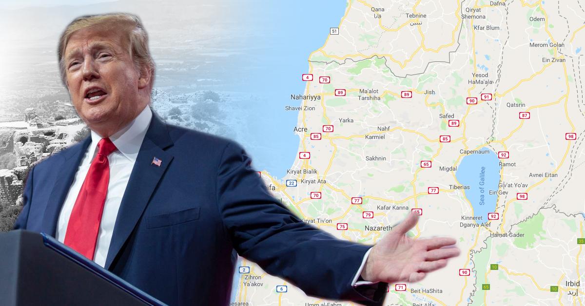 واشنطن : ترامب سيعترف بسيادة اسرائيل على الجولان